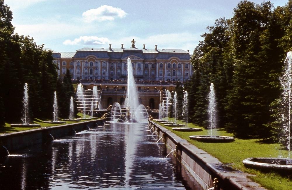 Прогулка по Петергофу: фотографии 1983 года