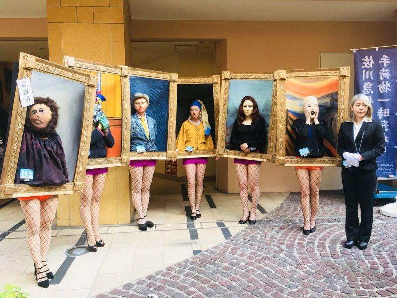 Приз за лучший костюм на Хэллоуин получили живые картины (3)