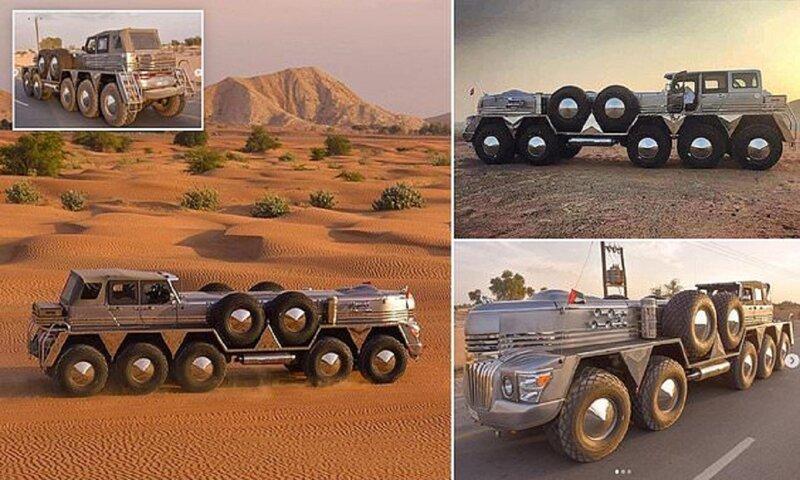 Для арабского шейха создали 10-колесный внедорожник