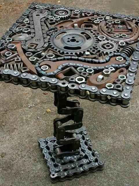 Статуэтки из металлических предметов своими руками (10)