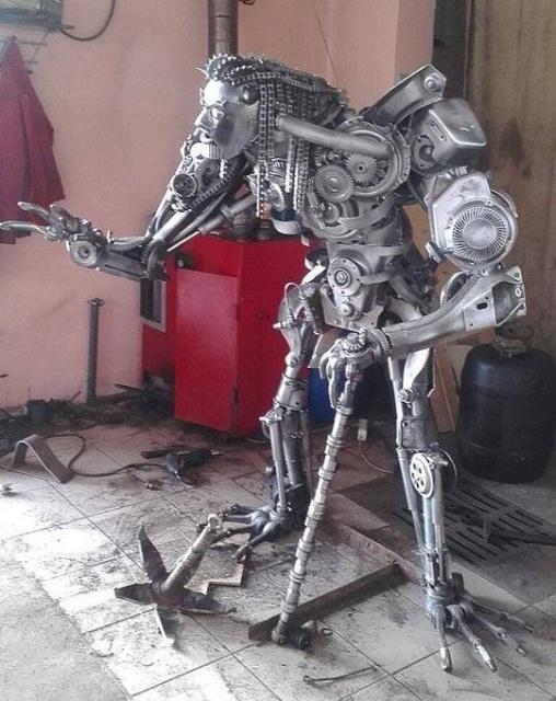 Статуэтки из металлических предметов своими руками (16)