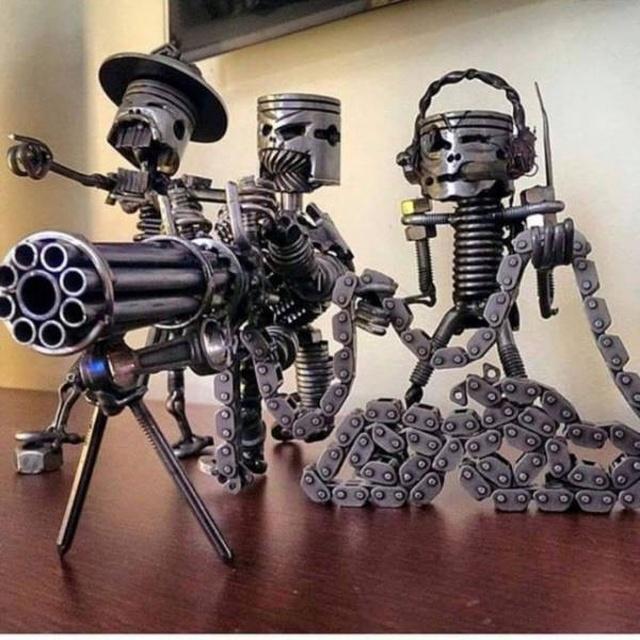 Статуэтки из металлических предметов своими руками (9)