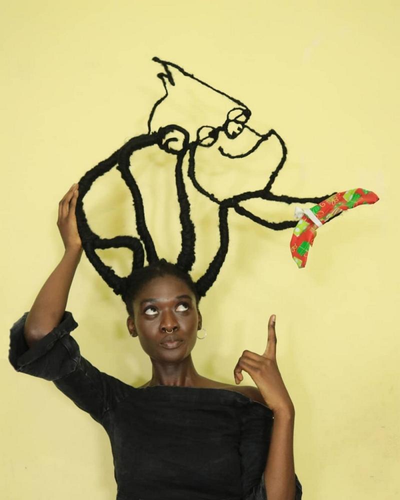 Удивительные прически художницы из Кот_д'Ивуара (12)