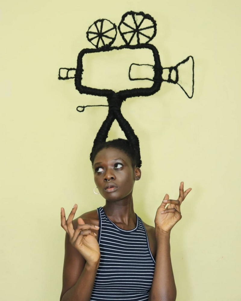 Удивительные прически художницы из Кот_д'Ивуара (6)