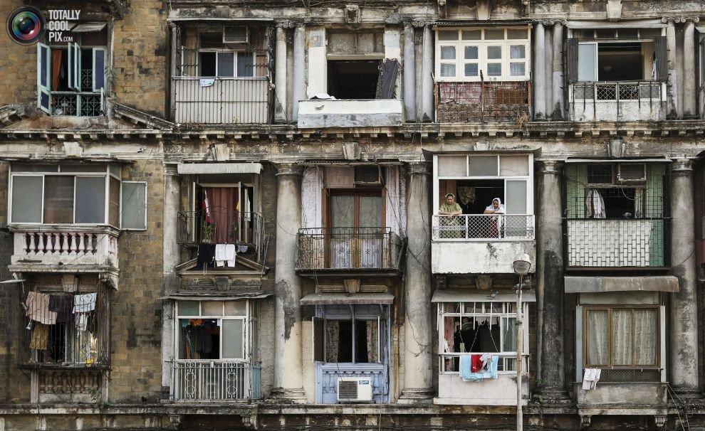Жилые «муравейники» Мумбая (4)