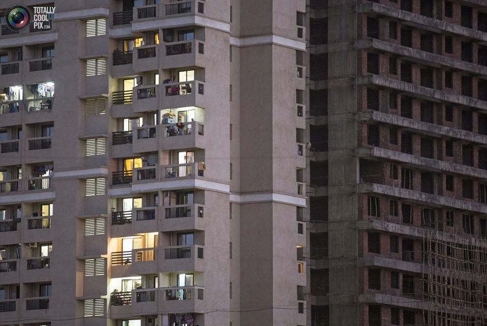 Жилые «муравейники» Мумбая (9)