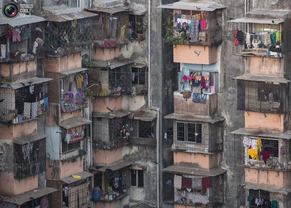 Жилые «муравейники» Мумбая