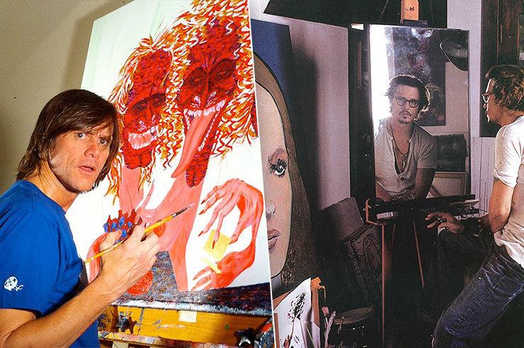 Джонни Депп, Джим Керри, принц Чарльз и другие звезды, которые потрясающе рисуют