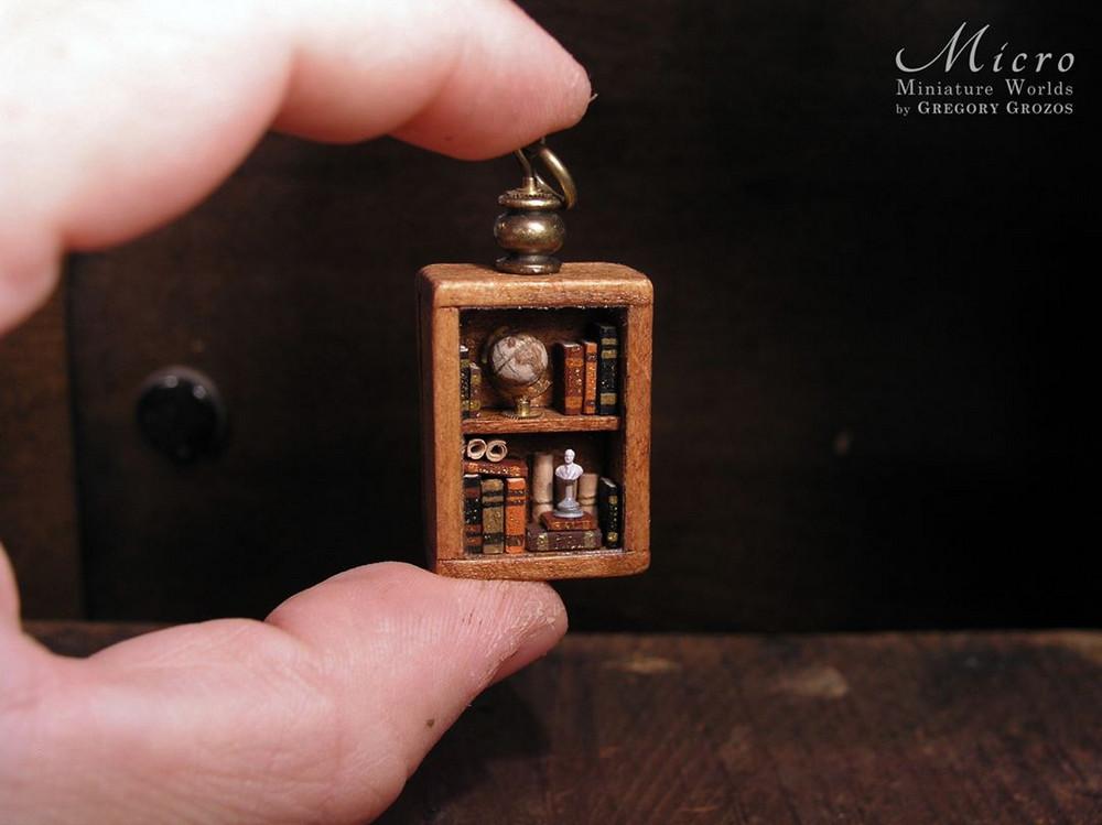 Миниатюрные миры в старых карманных часах Грегори Грозоса 15