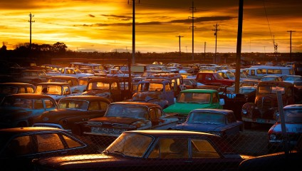 Кладбища автомобилей: фотографии Диетер Клейна