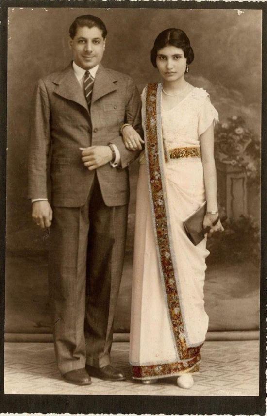 Родители Фредди Меркьюри, Bomi и Jer Bulsara, в день свадьбы, 1946 год.