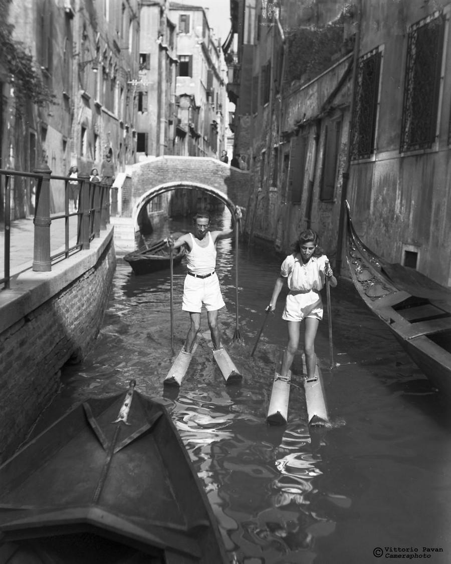 Редкие фотографии известных людей_ отдыхающих в Венеции в 1950_60_е годы 22