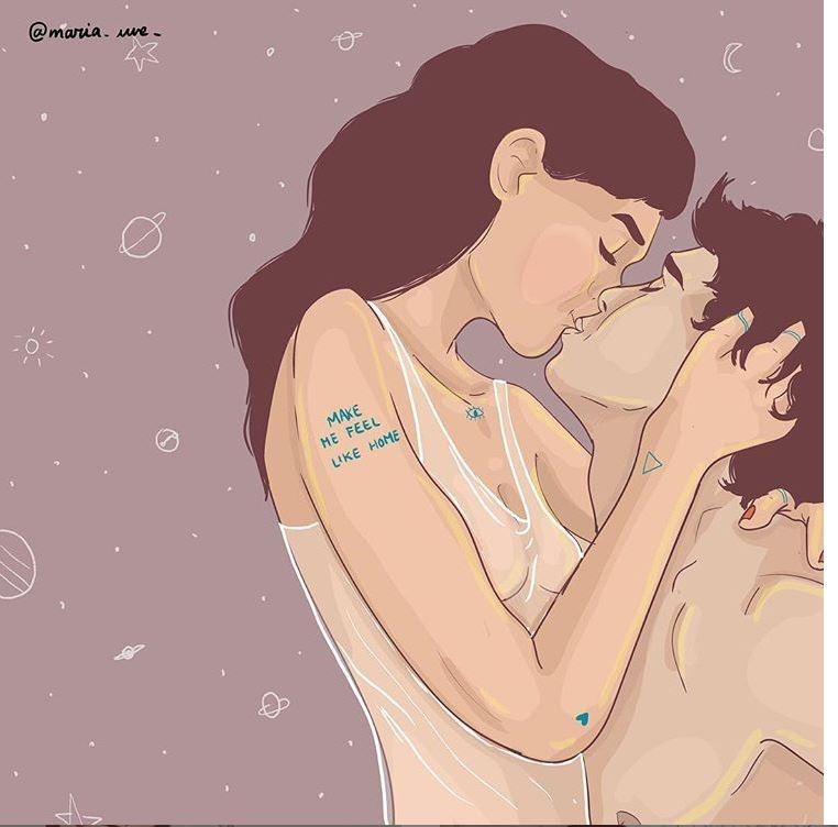 Любовь — это ответ: иллюстрации Марии Уве
