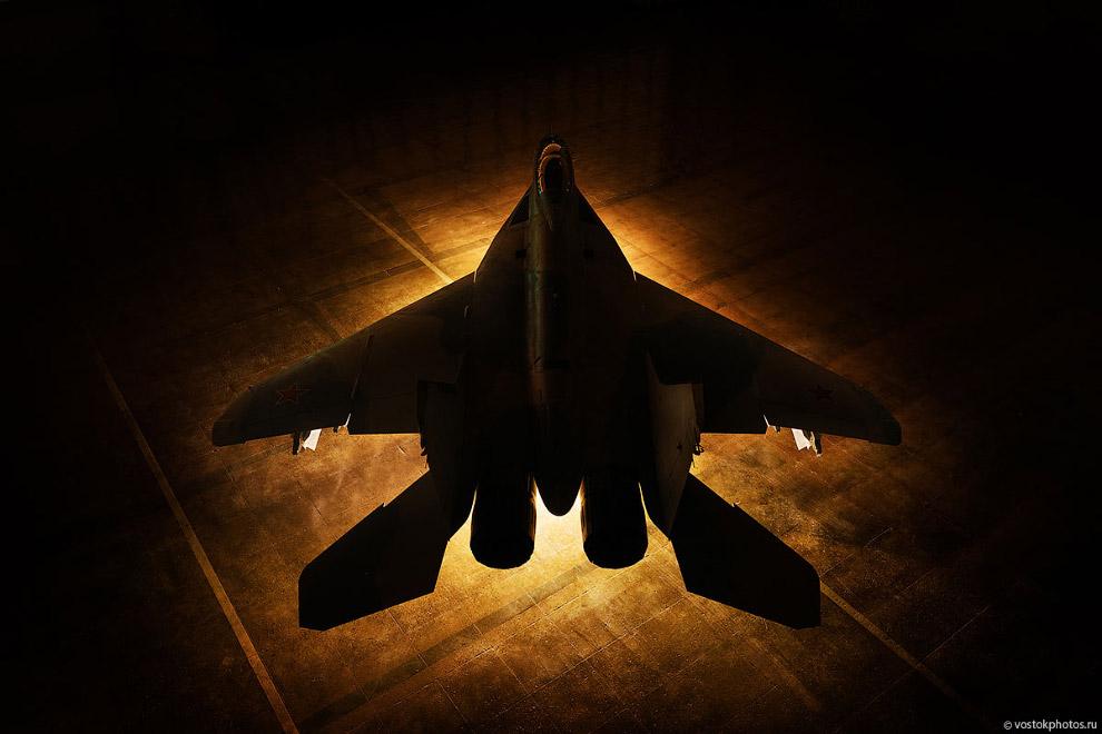 Съёмка истребителя МиГ_35 (12)