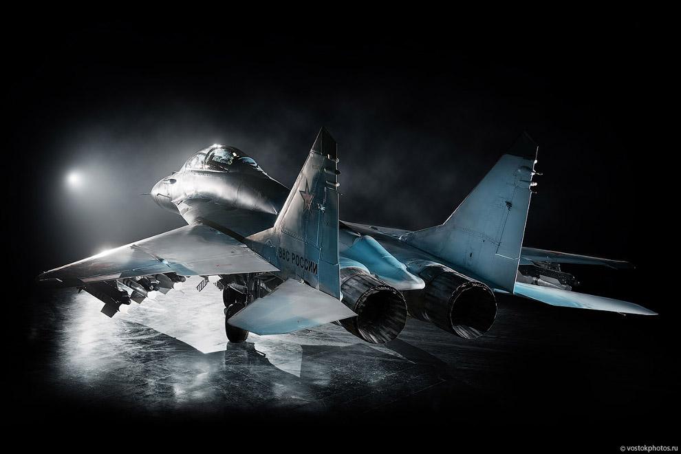 Съёмка истребителя МиГ_35 (14)