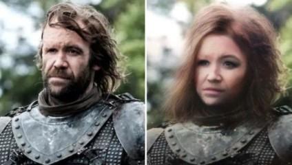 """Фильтр, переделывающий женских героев """"Игры престолов"""" в мужчин и мужских в женщин"""