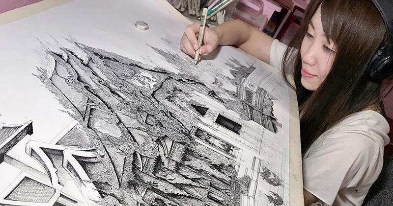 Архитектура с мельчайшими деталями в творчестве Эми Накадзима
