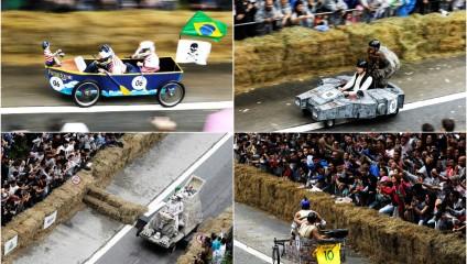 Самые необычные транспортные средства на гонке «Red bull soapbox»