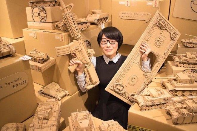 Японка не выкидывает коробки  из картона — она находит им оригинальное применение