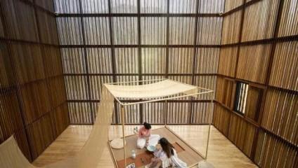 Китайское решение в противовес кирпичу: в Китае из бамбука соорудили целый городок