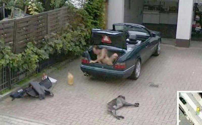 Странные фото, зафиксированные камерами Google Street View
