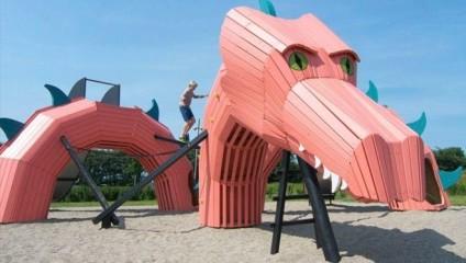 Шесть классных детских площадок, на которых и родителей потянет поиграть