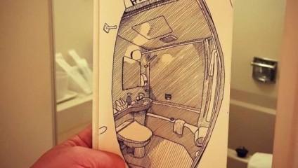 Реальность отраженная на бумаге  - поразительные скетчи колумбийского архитектора
