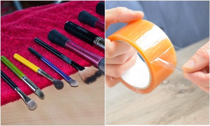Очищение кистей от остатков косметики