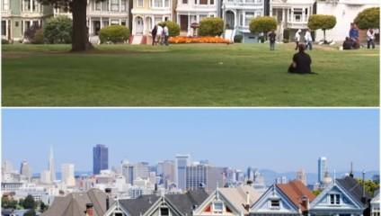 """Колоритная улица Сан-Франциско: каким образом в современном большом городе удалось сохранить особняки викторианской эпохи """"Painted Ladies"""""""