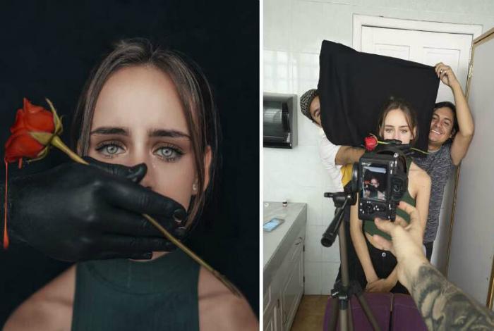 """Ряд фото """"до"""" и """"после"""": раскрытие секретов создания шедевров на фотосессии"""