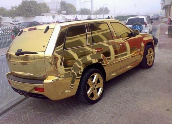 «Скромный» тюнинг из золота