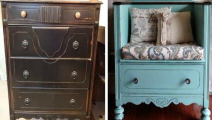 Варианты преображения старой мебели в новые стильные предметы для сада и квартиры