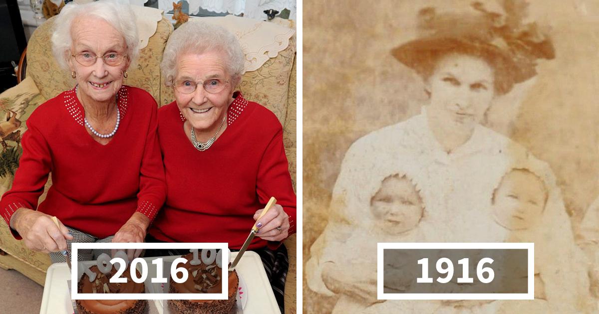 Небольшая история долгой жизни — 100-й день рождения сестер-близнецов