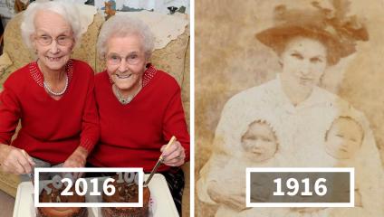 Небольшая история долгой жизни - 100-й день рождения сестер-близнецов