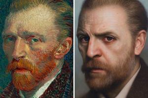 Превращение картин и античных бюстов в реалистичные портреты