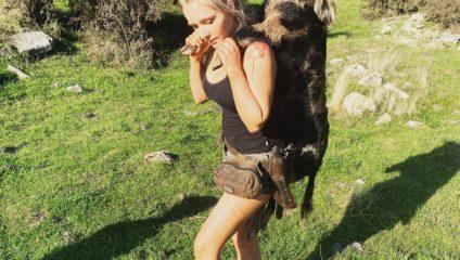 За мясом на природу, а не в магазин - мама троих детей настоящий охотник