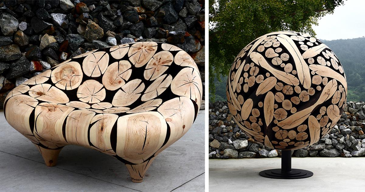 Произведения искусства из деревянных отходов