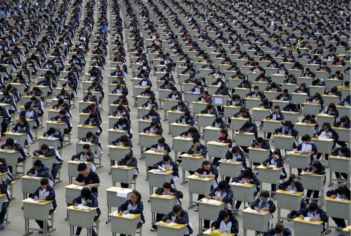 Удивительные фотографии, показывающие на сколько велико население Китая