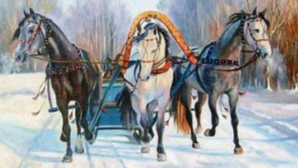 Лихая тройка: почему запряженные лошади смотрят в разные стороны, но мчат очень быстро