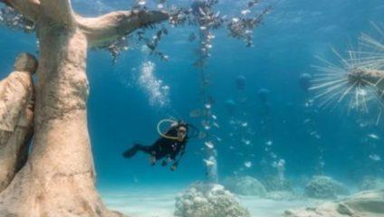 Новый кипрский парк подводных скульптур в фотографиях